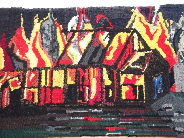 The Old Hall on Fire