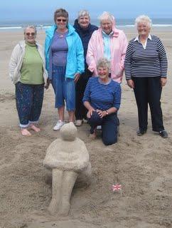 Beach Sculpture at Bamburgh