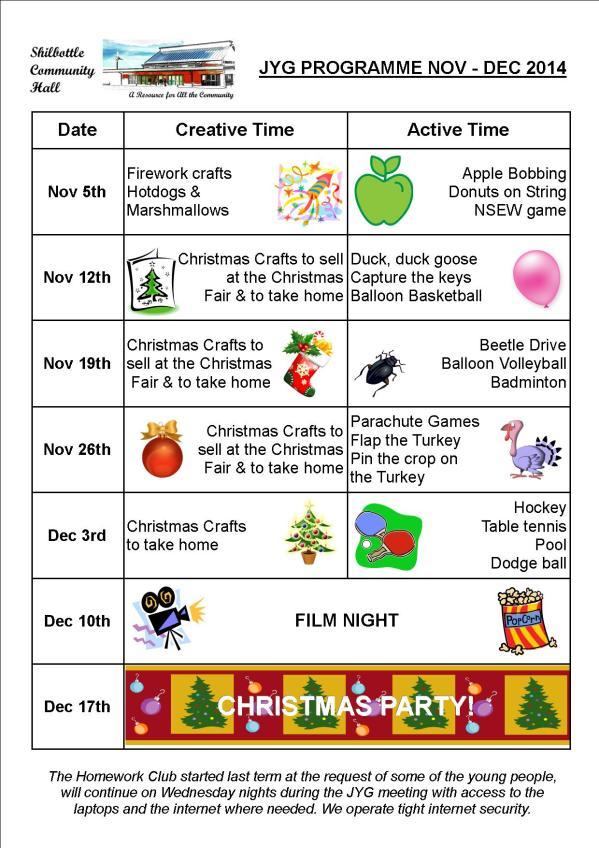 Programme Nov - Dec 2014