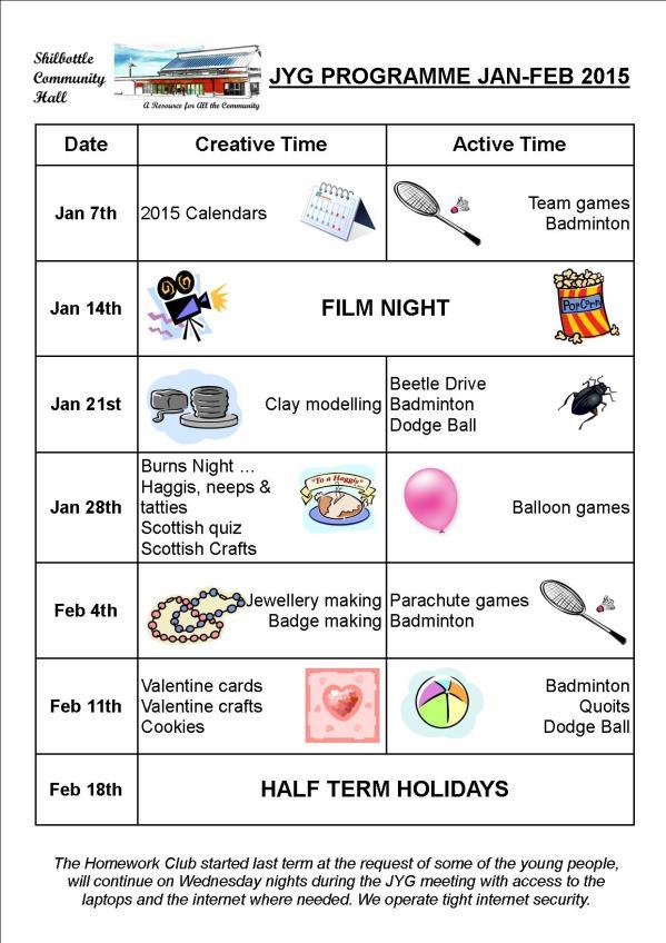Programme Jan-Feb 2015