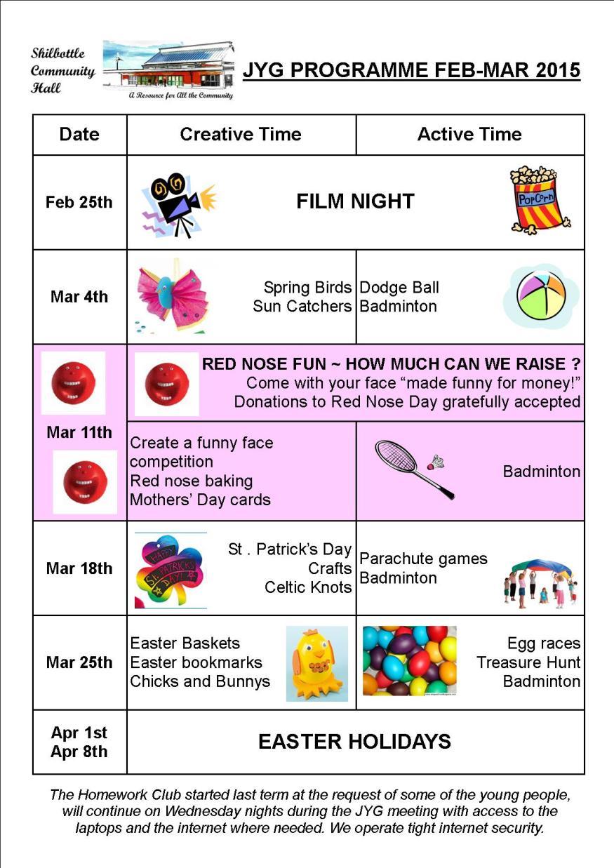 Programme Feb-Mar 2015