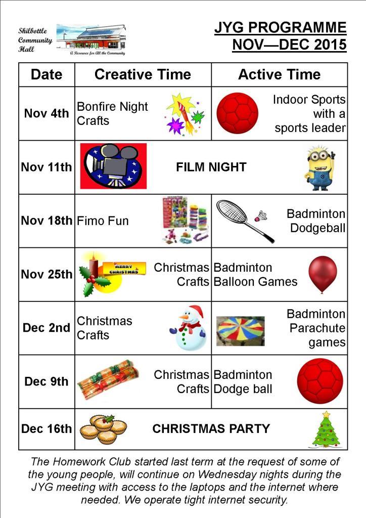 Programme Nov-Dec 2015