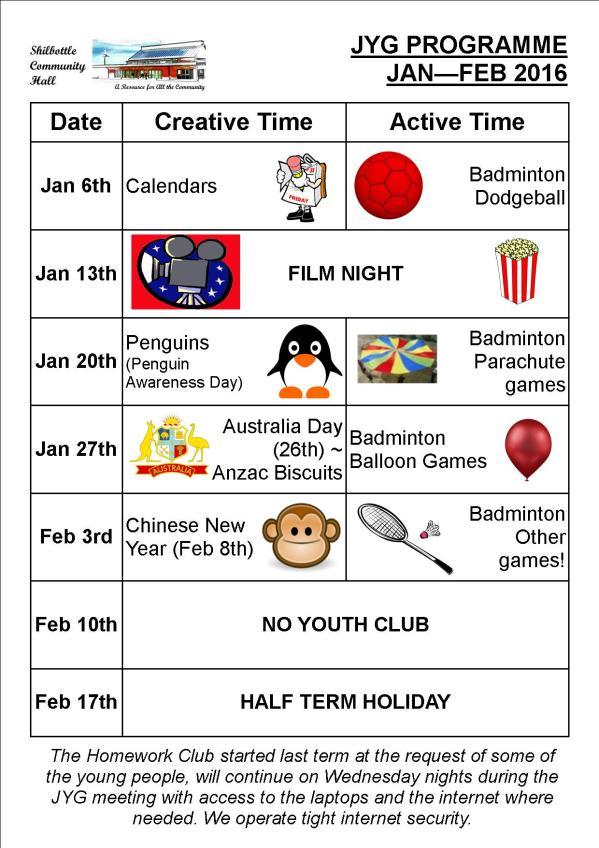 Programme Jan - Feb 2016