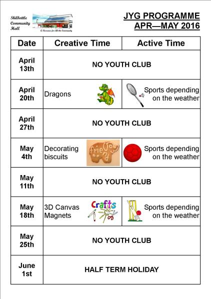 Programme Apr - May 2016