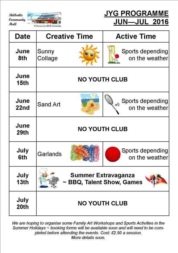 Programme Jun - Jul 2016