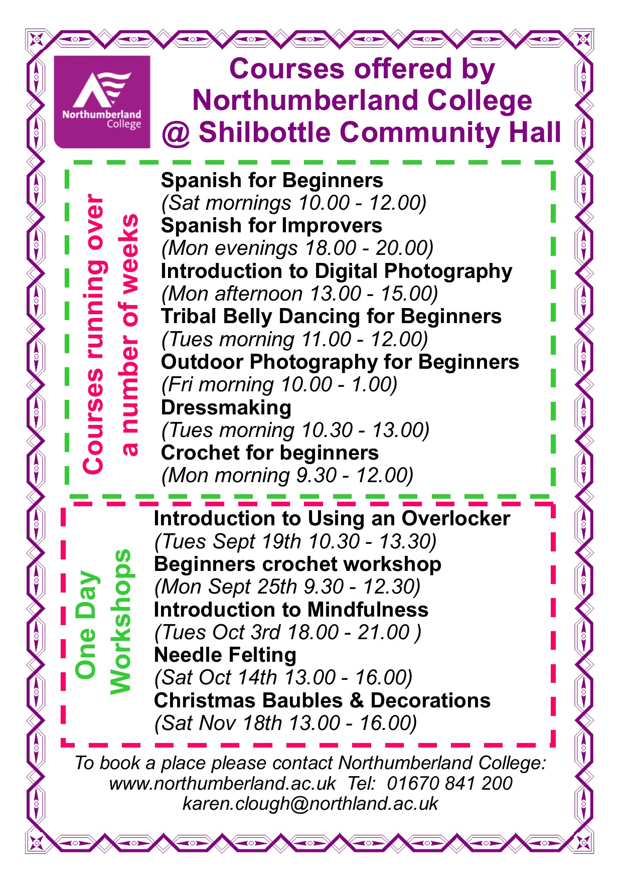 Cake Making Classes Northumberland : Upcoming Events Shilbottle Community Hall